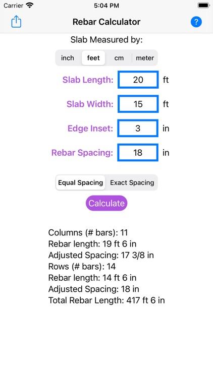 Rebar Grid Calculator