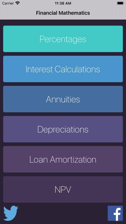 Financial Mathematics Calc