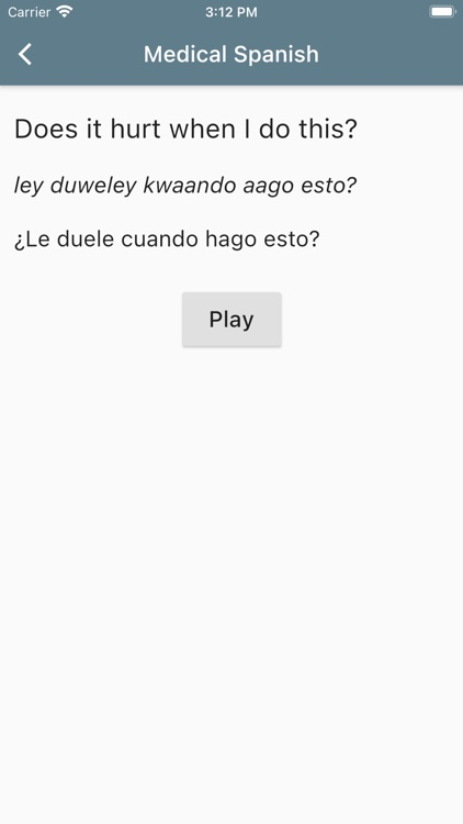Spanish Medical Phrases screenshot-3