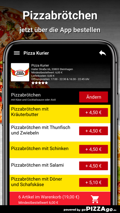 Pizza Kurier Steinhagen Essen screenshot 5