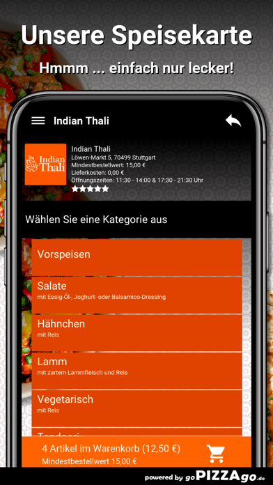 Indian Thali Stuttgart screenshot 4