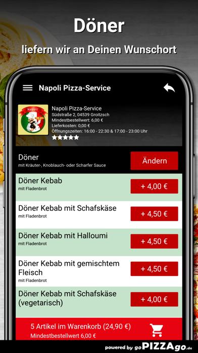 Napoli Pizza-Service Groitzsch screenshot 6
