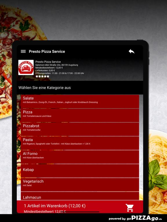 Presto Pizza Service Augsburg screenshot 8