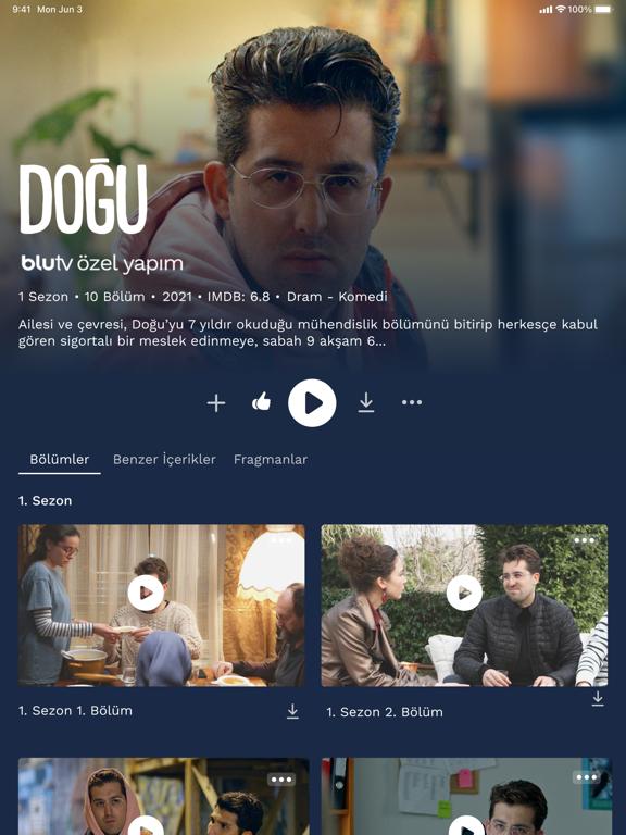 BluTV ipad ekran görüntüleri