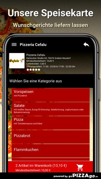 Pizzeria Cefalu Graben-Neudorf screenshot 4