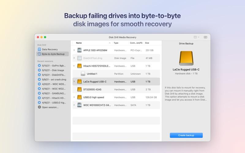 Disk Drill Media Recovery Screenshot