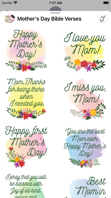 Mother's Day Bible Verses Screenshot