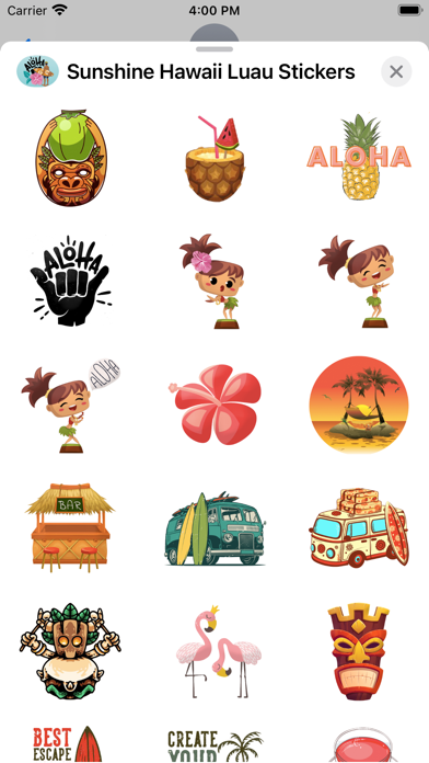 Sunshine Hawaii Luau Stickers screenshot 3
