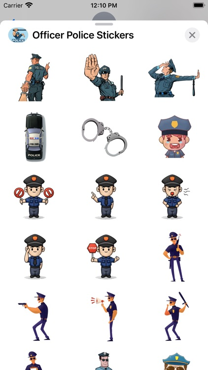 Officer Police Stickers screenshot-3