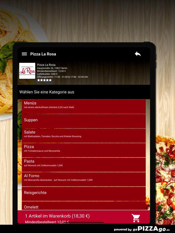 Pizza La Rosa Berlin screenshot 8