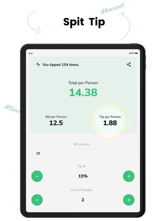 Tip - Calculator & Bill split screenshot 6