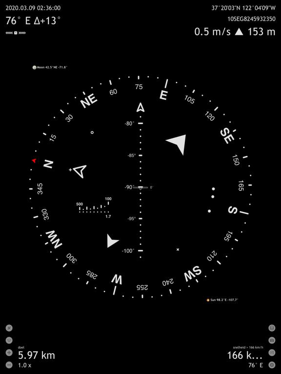Commander Compass Go iPad app afbeelding 1