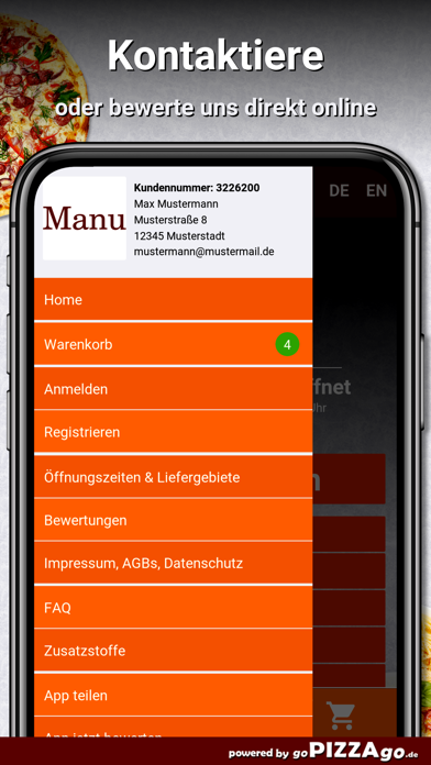Pizzeria Manu Paderborn screenshot 3