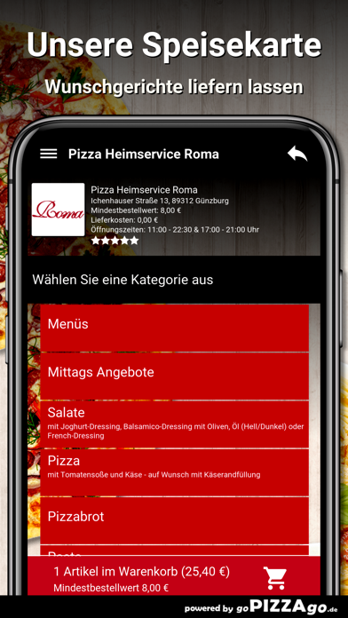 Pizza Roma Günzburg screenshot 4