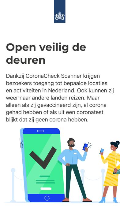 Scanner voor CoronaCheck iPhone app afbeelding 1