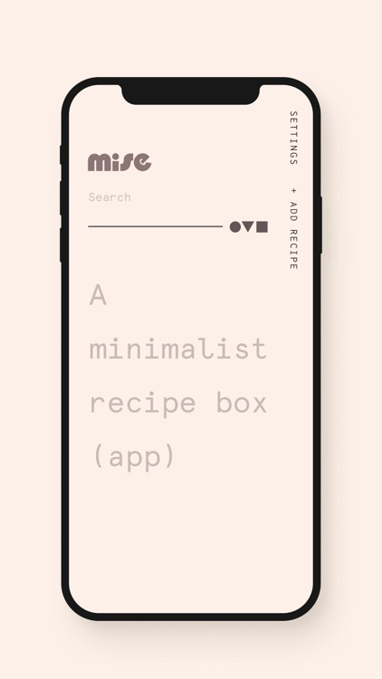 Mise: A minimalist recipe box