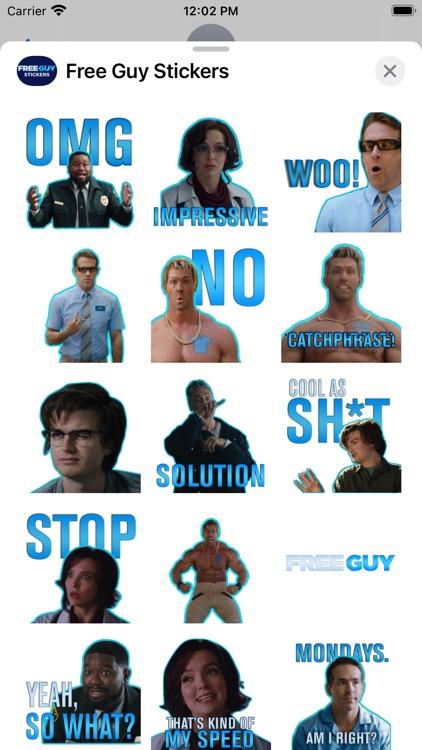 Free Guy Stickers