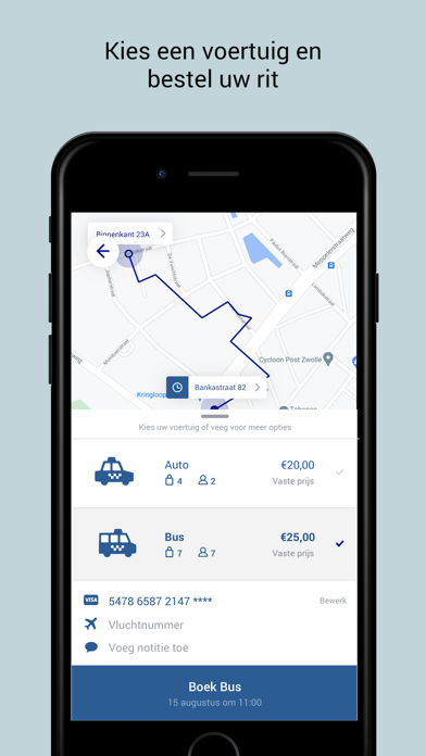 Taxi App Bobbie (Zwolle) Screenshot
