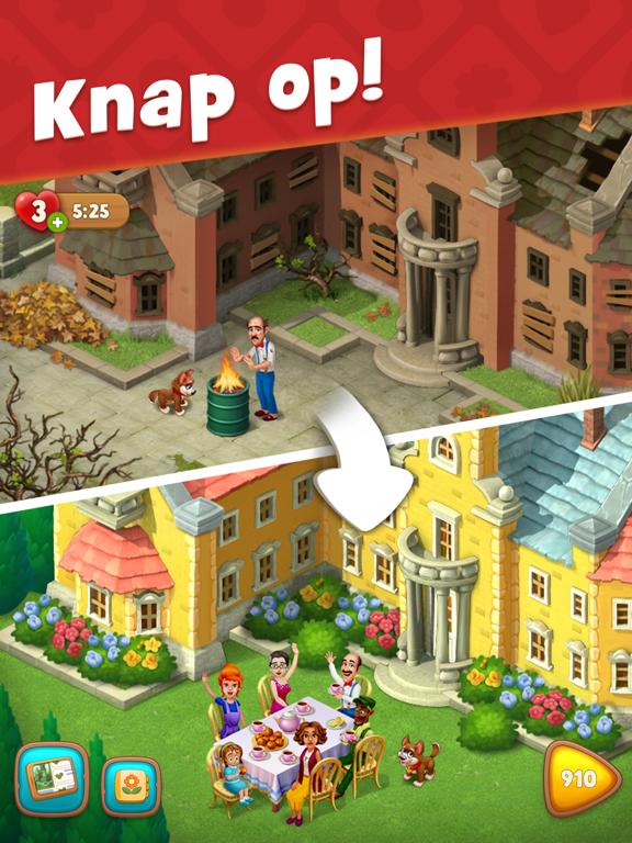 Gardenscapes iPad app afbeelding 1