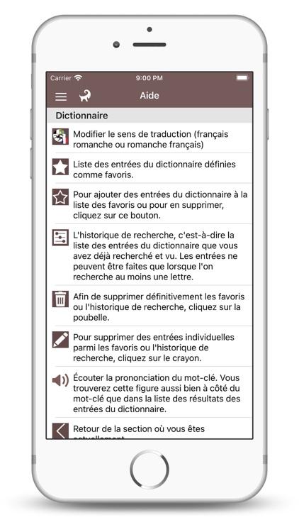 Dictionnaire Romanche Francais screenshot-6