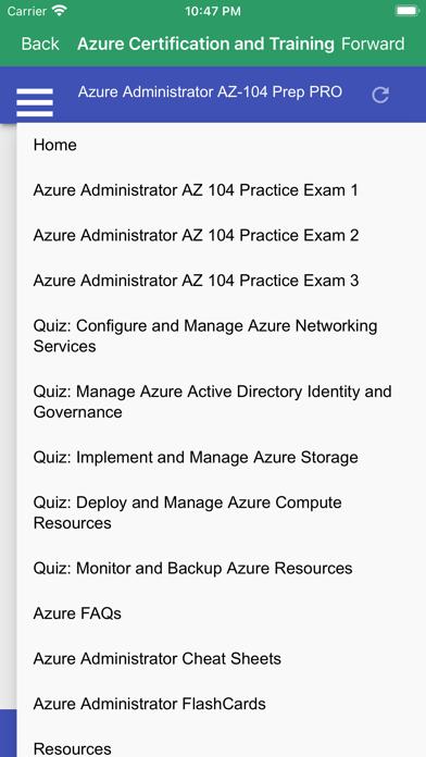 Azure Administrator AZ104 Prep Screenshot