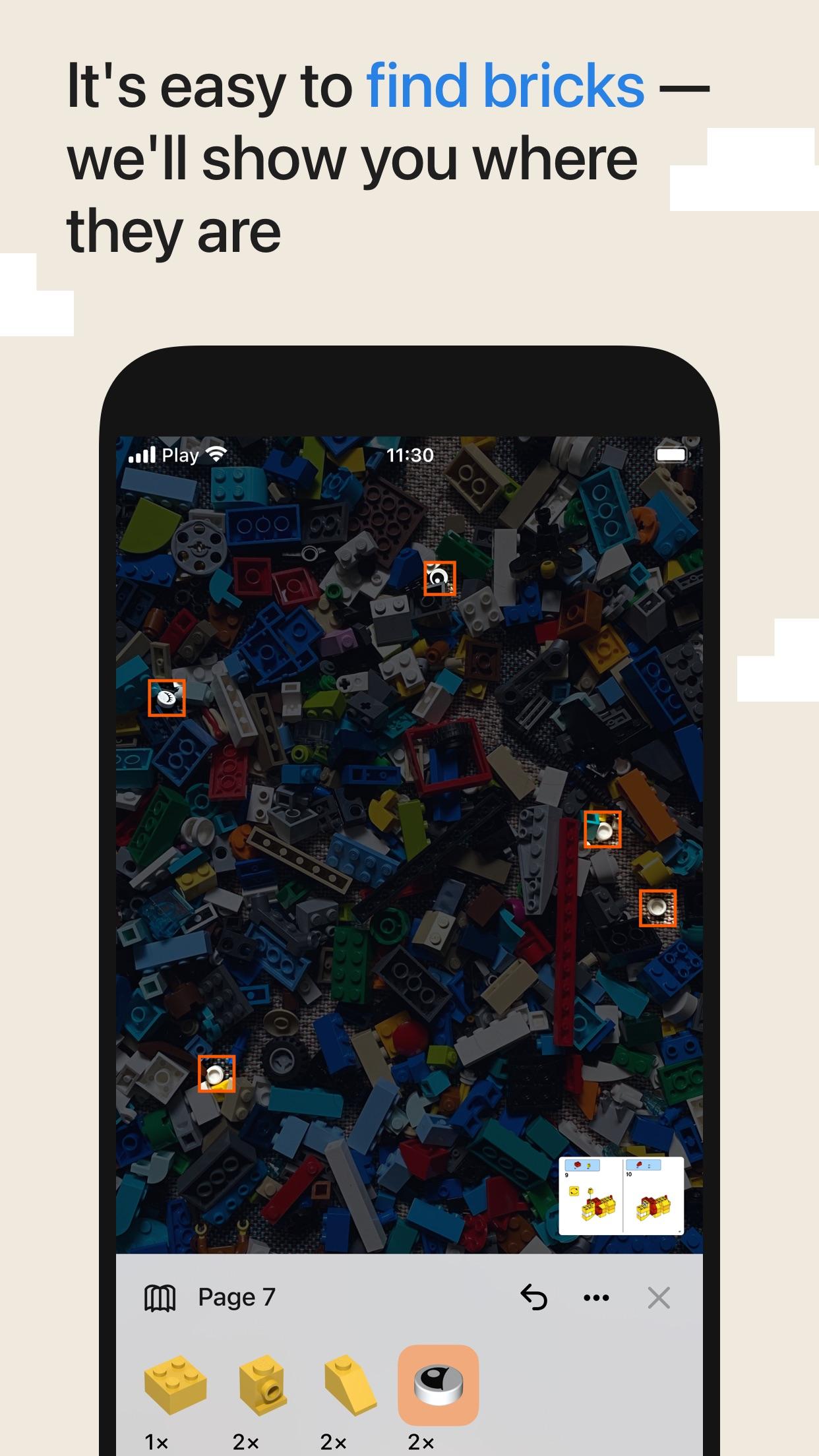 Screenshot do app Brickit App