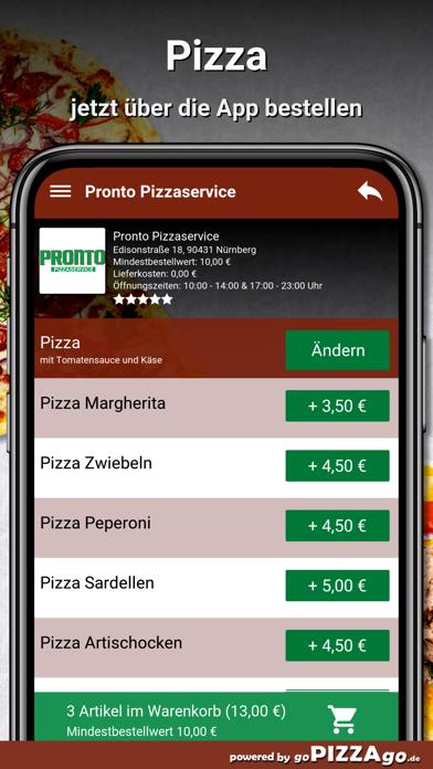 Pronto Pizzaservice Nürnberg screenshot 5