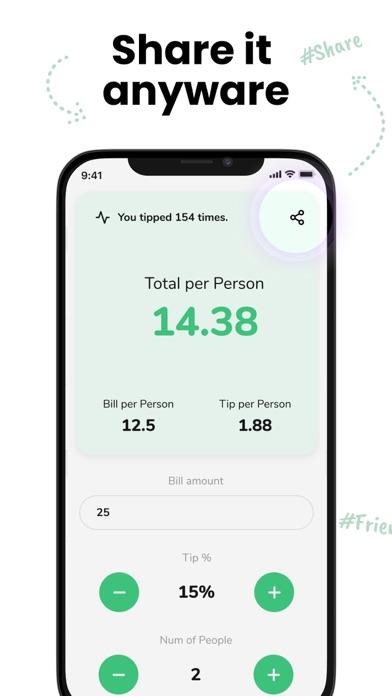 Tip - Calculator & Bill split screenshot 4