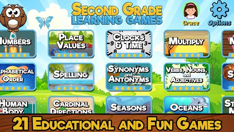 Second Grade Learning Games SE screenshot-0