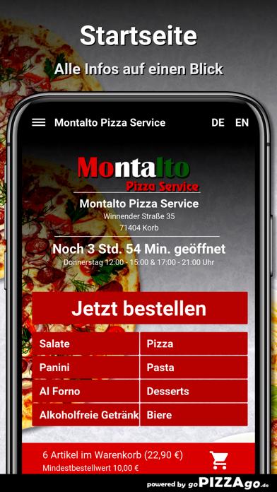 Montalto Pizza Service Korb screenshot 2