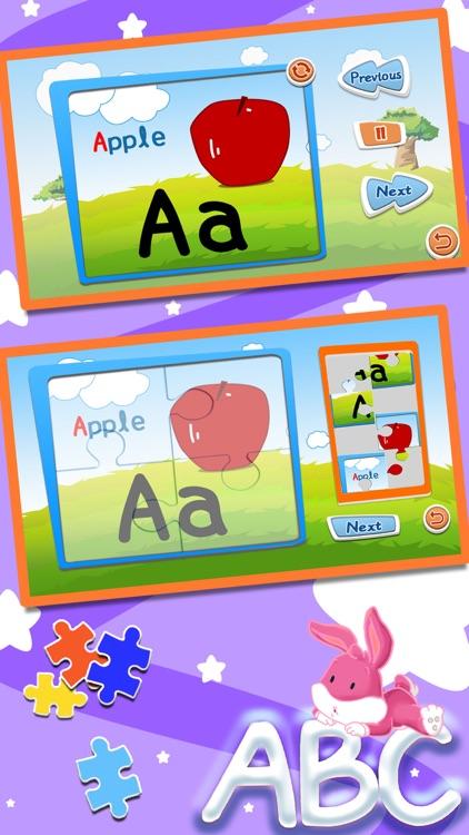 Alphabet ABC jigsaw flash card screenshot-0