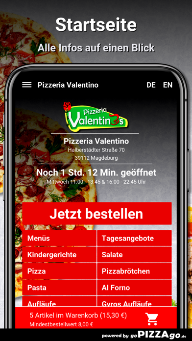 Pizzeria Valentino Magdeburg screenshot 2