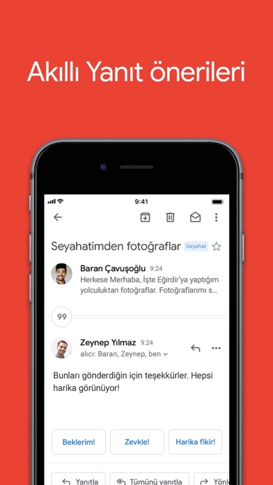 Gmail - Google'dan e-posta iphone ekran görüntüleri