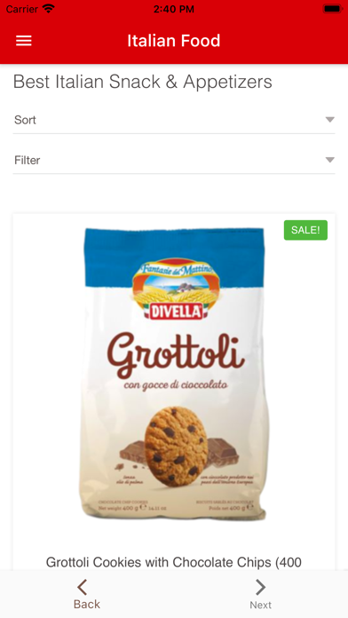 Italian Food Online Store紹介画像2