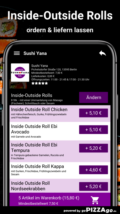 Sushi Yana Berlin screenshot 6