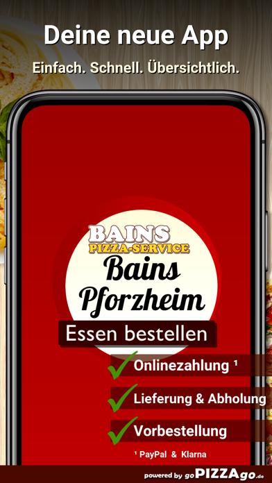 Bains Pizza-Service Pforzheim screenshot 1