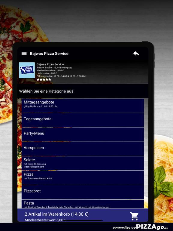 Bajwas Pizza Service Leipzig screenshot 8