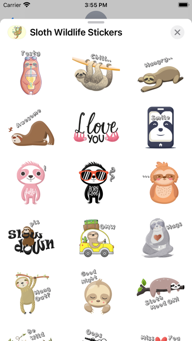 Sloth Wildlife Stickers screenshot 3