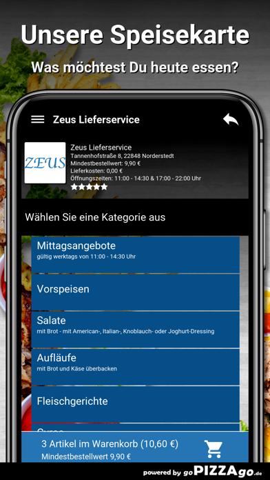 Zeus Lieferservice Norderstedt screenshot 4