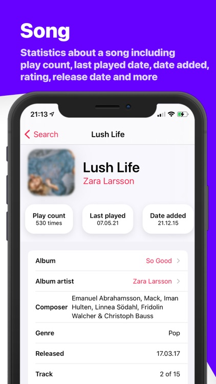 Song Infos - your music stats screenshot-8