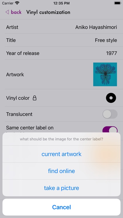 Vinyl Fetish - music player screenshot-3