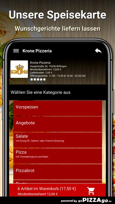 Krone Pizzeria Bilfingen screenshot 4