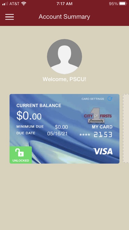 City of Firsts FCU Wallet