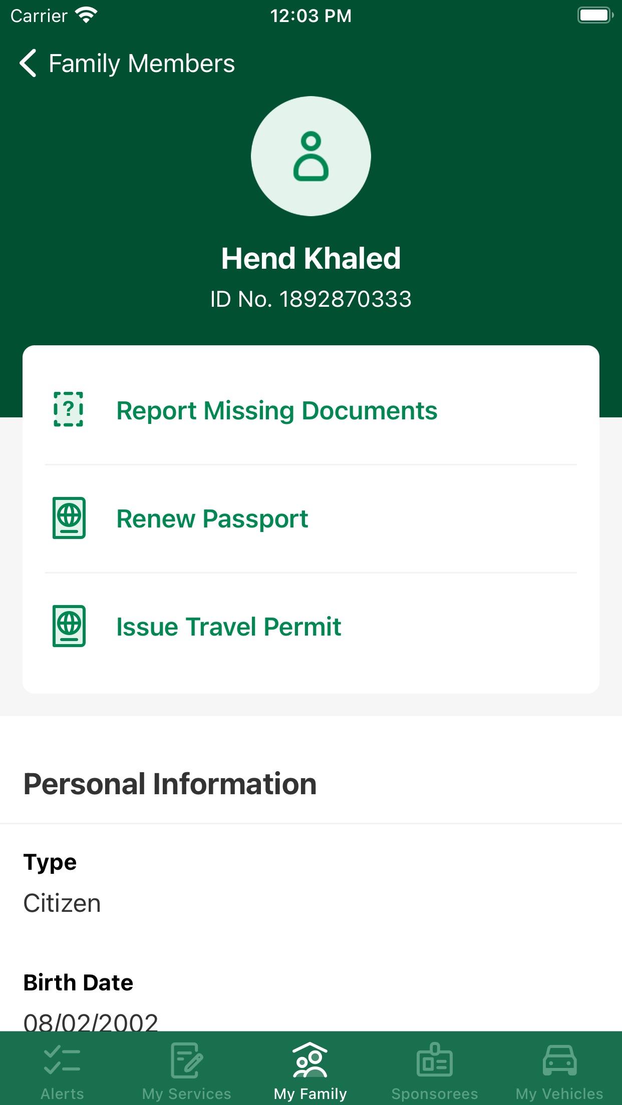 Screenshot do app Absher | أبشر