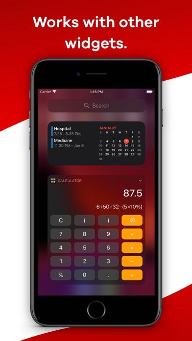 Calculator Widget - WCalc Screenshots