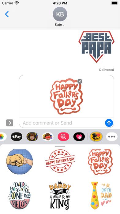 Daddy Day Stickers screenshot 1