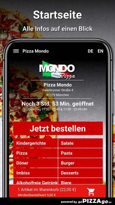 Pizza Mondo München screenshot 3