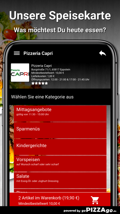 Pizzeria Capri Eppstein screenshot 4