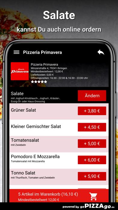 Pizzeria Primavera Ihringen screenshot 5