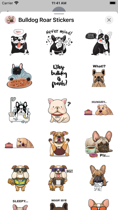 Bulldog Roar Stickers screenshot 3